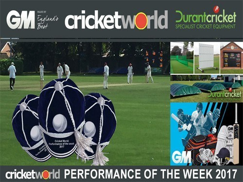 Durant Cricket and Cricket World Performance of the Week 2017