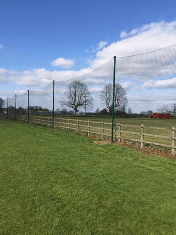 REMOVABLE BALL STOP NETTING Banner