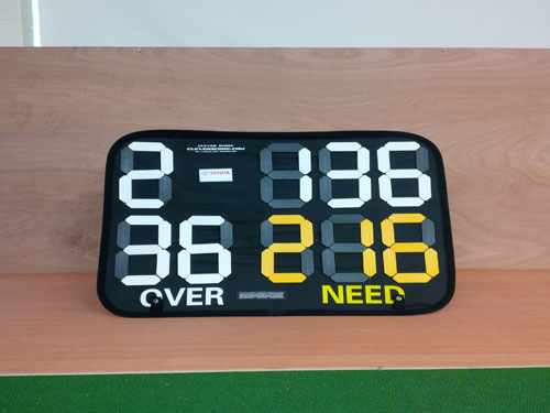 STAND UP CRICKET SCOREBOARD Banner